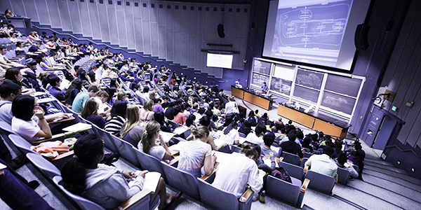 students attending a lecture
